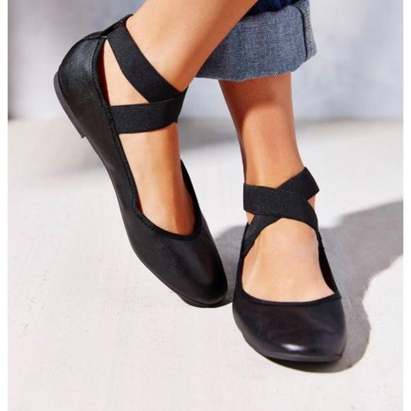 Kimchi Blue Ankle Strap Ballerina Flats